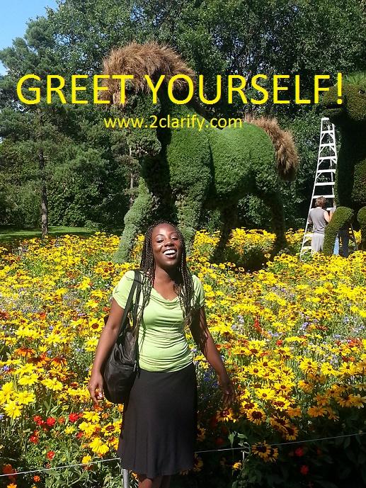 Greet yourself